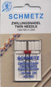 Schmetz TWIN Needle - Size 70 (10), 1.6mm gap