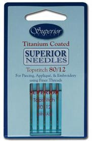 Superior Titanium TOPSTITCH Needle - Size 80/12