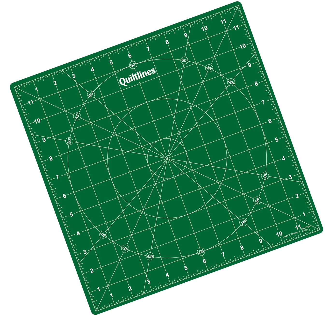 "Rotating Self Healing Cutting Mat  Imperial 12.5 x 12.5"" - Green"