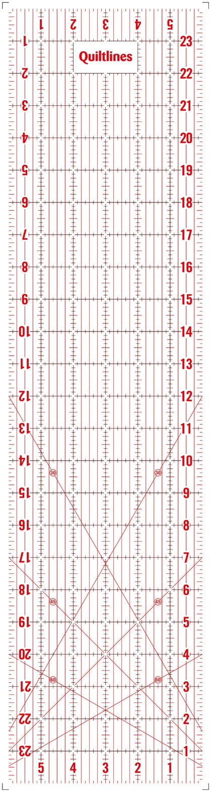 "Quilting Ruler - 6 x 24"" Imperial by Quiltlines"