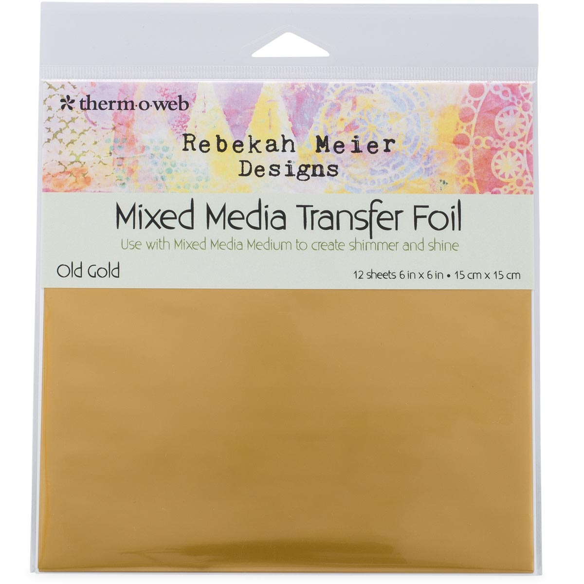 Rebekah Meier Wholesale -  Transfer Foil Old Gold 6 x 6 inch (15 x 15cm) x 12 Sheets